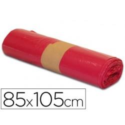 Saco de lixo industrial vermelha 85x105cm galga 110 rolo de 10 unidades