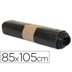 Saco de lixo industrial bisnaga preta 85x105cm galga 120 rolo de 10 unidades