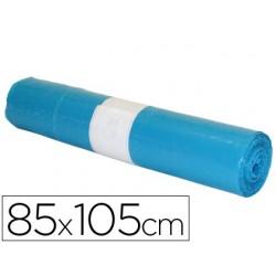 Saco de lixo industrial azul 85x105cm galga 110 rolo de 10 unidades