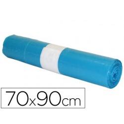 Saco de lixo industrial azul 70x90cm galga 110 rolo de 10 unidades