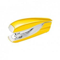 Agrafador petrus 635 wow amarelo metalizado capacidade 30 folhas