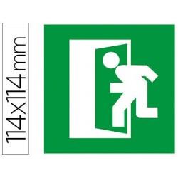 Etiqueta adesiva apli de sinalização simbolo porta de saída de emergência 114x114 mm