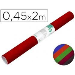 Rolo adesivo liderpapel veludo cores sortidas rolo de 0