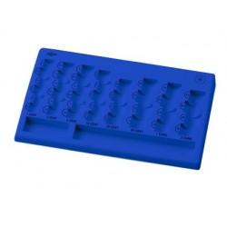 Porta moedas plastico euro faibo 8 departamentos cor azul 310x185x30 mm