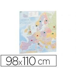 Mapa parede faibo europa plastificado enrolado 98x110 cm