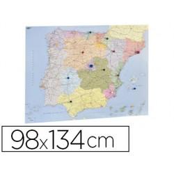 Mapa parede faibo espanha e portugal plastificiado enrolado 98x134 cm