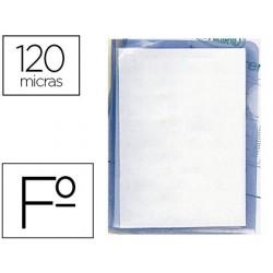 Bolsa dossier q-connect em plastico folio 120 microns transparente