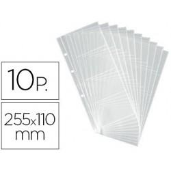 Recambio tarjetero duraclip visifix 10 fundas para 80 tarjetas