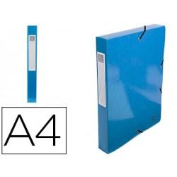 Pasta de projetos exacompta iderama cartao lustrado plastificado din a4 lombada 40 mm azul claro