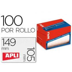 Etiqueta apli adesiva 1706 formato 105x149 mm em rolo de 100 unidades