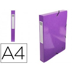 Pasta de projetos exacompta iderama cartao lustrado plastificado din a4 lombada 40 mm violeta