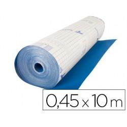 Rolo adesivo especial veludo cor azul rolo de 10 mt