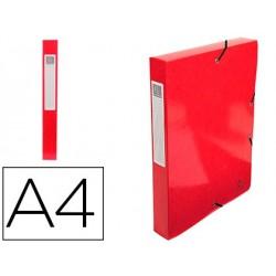 Pasta de projetos exacompta iderama cartao lustrado plastificado din a4 lombada 40 mm vermelha