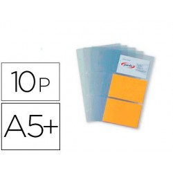 Recambio 10 fundas pardo para tarjetero tamaño cuarto pvc capacidad 6 tarjetas