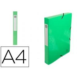 Pasta de projetos exacompta iderama cartao lustrado plastificado din a4 lombada 40 mm verde anis