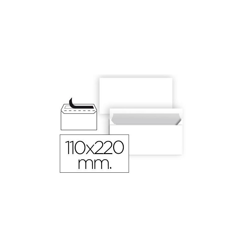 Envelope liderpapel americano branco 110x220 mm tira de silicone pack de 25 unidades