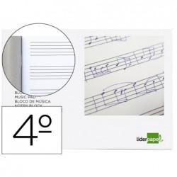 Caderno de musica liderpapel pentagrama 5mm quarto 20 folhas 100 gr agrafado
