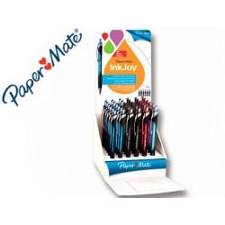 Boligrafo paper mate inkjoy 550 rt punta media trazo 1 mm retractil clip metalico expositor de 36 colores