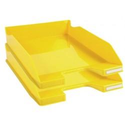 Tabuleiros de secretaria exacompta combo 2 classic amarelo 347x255x65 mm