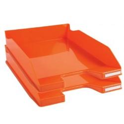 Tabuleiros de secretaria exacompta combo 2 classic laranja 347x255x65 mm