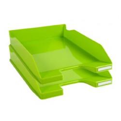 Tabuleiros de secretaria exacompta combo 2 classic verde 347x255x65 mm