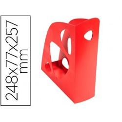 Porta revistas exacompta ecomag plastico vermelho 248x77x257 mm