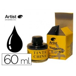 Tinta da china artist preta frasco de 60 ml