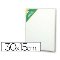 Tela de algodao artist 100% agrafada por tras 30x15 cm