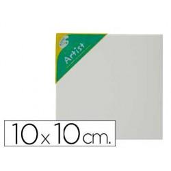 Tela de algodao artist 100% agrafada por tras 10x10 cm