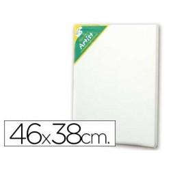 Tela de algodao artist 100% agrafada por tras 46x 38 cm