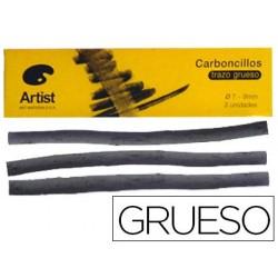 Carvao artist gruesos 7-9 mm caixa de 3 barras