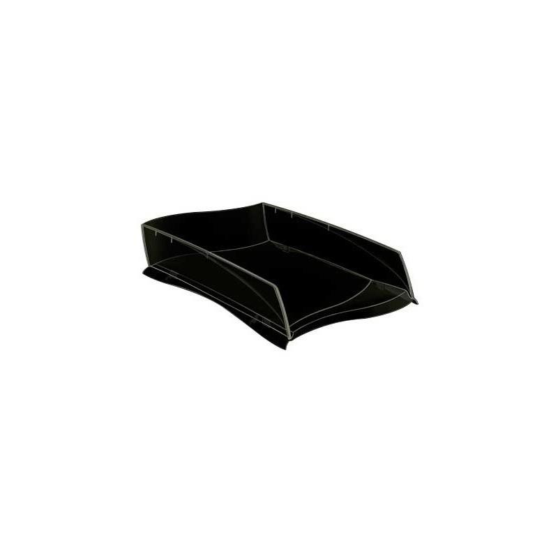 Tabuleiro de secretaria cep isis plastico preto 380x275x82 mm