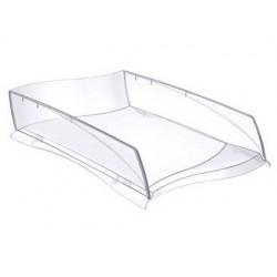 Tabuleiro de secretaria cep isis plastico transparente 380x275x82 mm