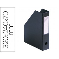 Porta revistas paperflow pvc ultra resistente color preto 32x24x7 cm