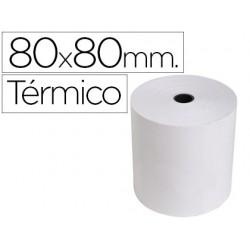 Rolo de calculadora exacompta termico 80 mm x 80 mm 55 g/m2