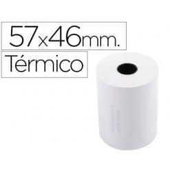 Rolo de calculadora exacompta termico 57 mm x 46 mm 55 g/m2