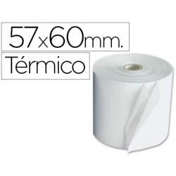 Rolo de calculadora exacompta termico 57 mm x 60 mm 55 g/m2