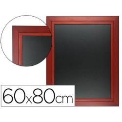 Quadro preto liderpapel mural de madeira com superficie para marcadores tipo giz 60x80cm