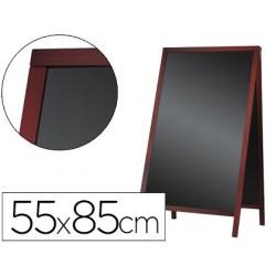 Quadro preto liderpapel cavalete dupla face de madeira com superficie para marcadores 55x85 cm
