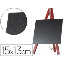 Quadro preto liderpapel cavalete de madeira superficie para marcadores tipo giz 15x13cm conjunto 3 quadros