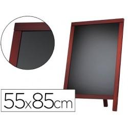 Quadro preto liderpapel cavalete e moldura de madeira com superficie para marcadores tipo giz 55x85cm