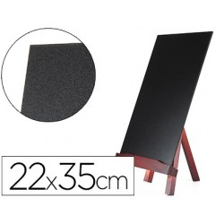 Quadro preto liderpapel cavalete de madeira com superficie para marcadores tipo giz 22x35cm