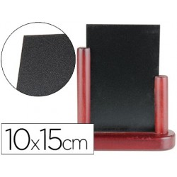 Quadro preto liderpapel dupla face de madeira com superficie para marcadores tipo giz 10x15cm
