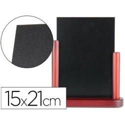 Quadro preto liderpapel dupla face de madeira com superficie para marcadores tipo giz 15x21cm