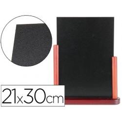 Quadro preto liderpapel dupla face de madeira com superficie para marcadores tipo giz 21x30cm