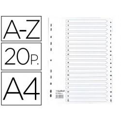 Separador exacompta cartolina branca a-z conjunto de 20 separadores din a4 11 furos