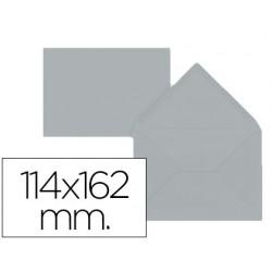 Envelope liderpapel c6 cinza 114x162 mm 80gr pack de15 unidades