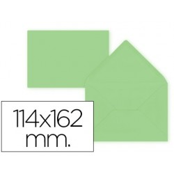 Envelope liderpapel c6 verde 114x162 mm 80gr pack de 15 unidades