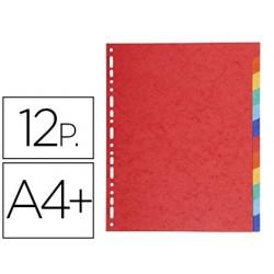 Separador exacompta cartolina brilho conjunto de 12 separadores din a4+ multifurado