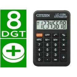 Calculadora citizen de bolso lc-110 preta 8 digitos
